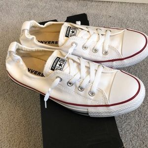 Converse White Shoreline Slip Sneakers Size 9.5